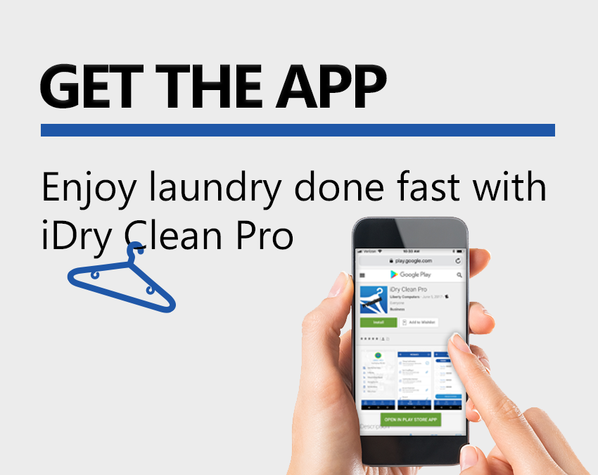 Residential Laundry Services App. Try the iDry Clean Pro Get the App and Enjoy laundry done fast