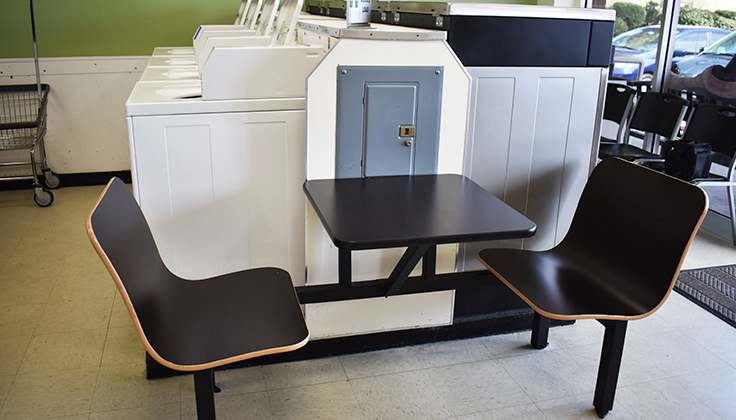 East Street Laundromat Seating Area