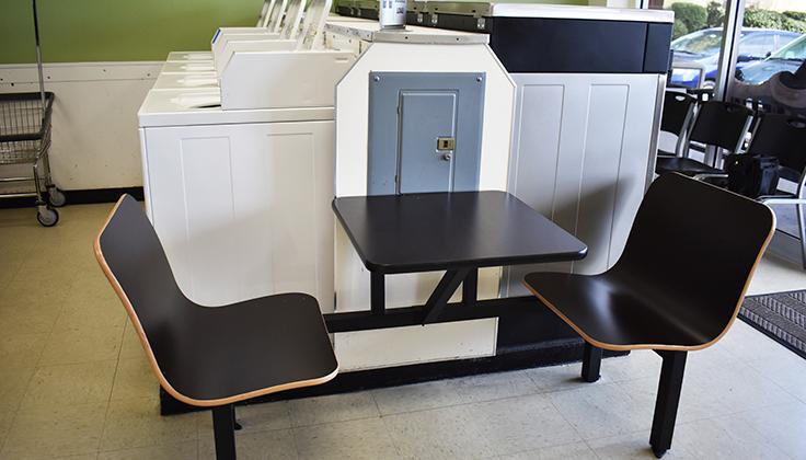East Street Laundromat Seating Area