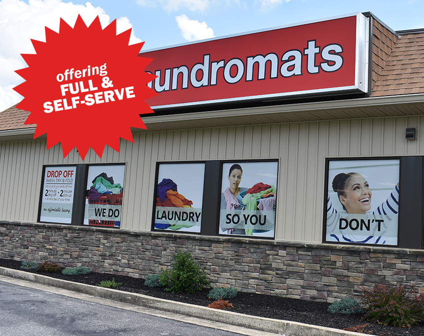 Mid Atlantic Pkwy, Martinsburg, WV, laundromat, store front, drop off, wash, dry, fold