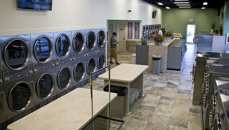 Spot Laundromat Salem Ave. Folding Tables