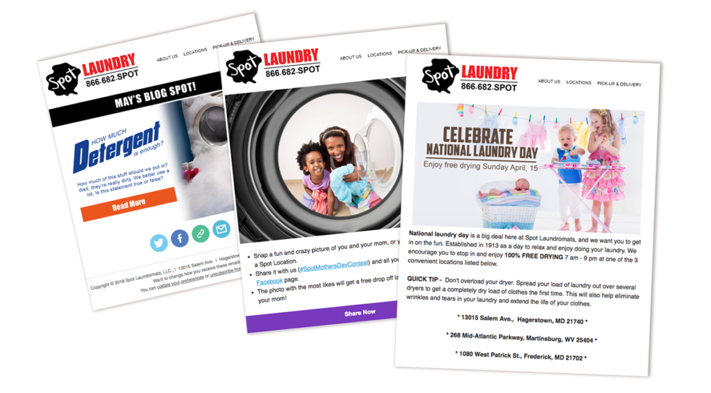 Spot Laundromat Email Examples
